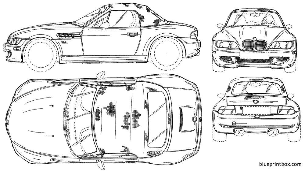 Bmw Z3 Cabrio Closed - Blueprintbox Com