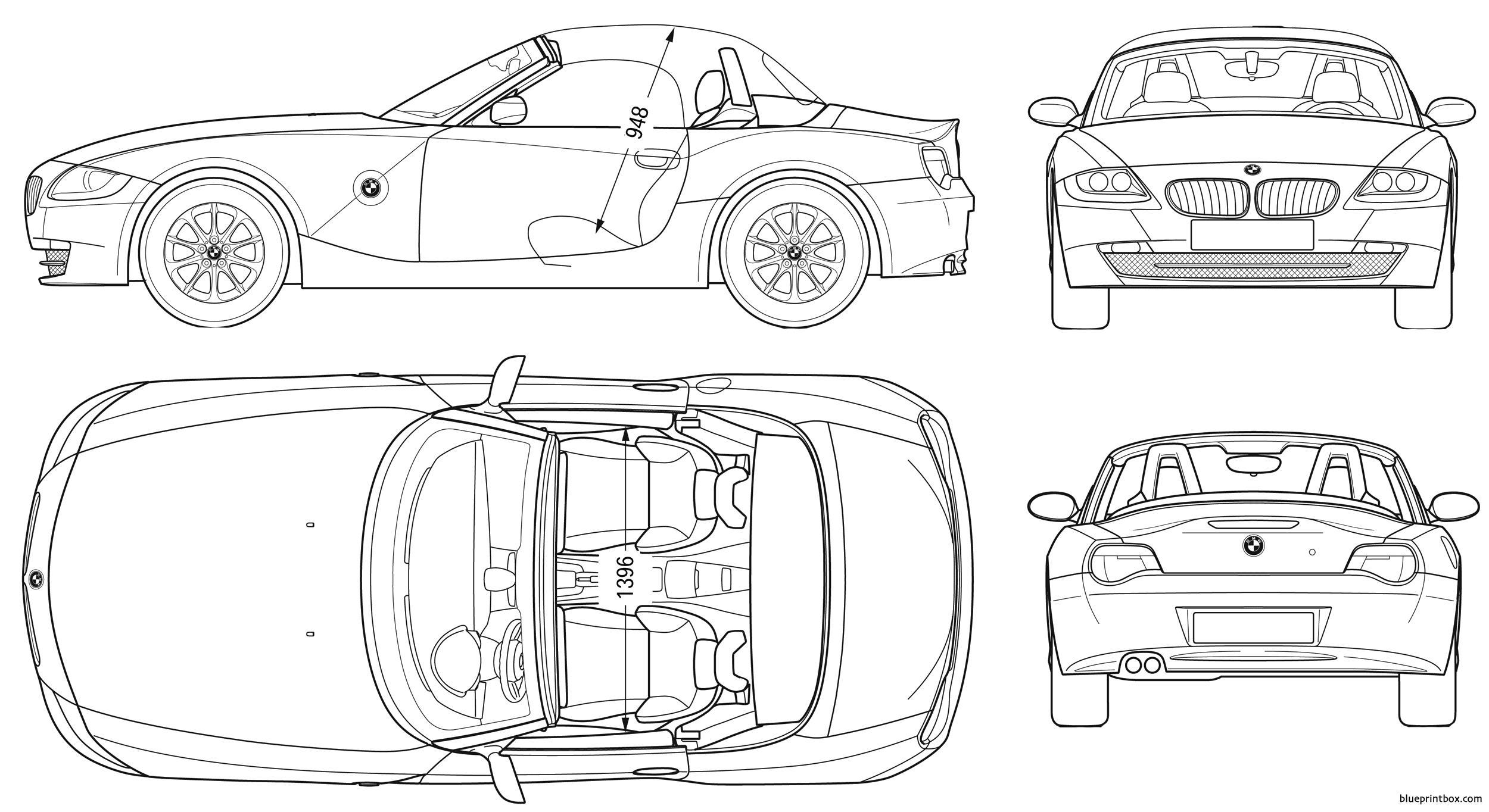 Bmw Z4 Roadster E85 - Blueprintbox Com