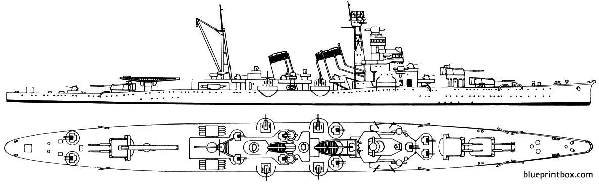 Ijn Hakinugasa 1943 Cruiser - Blueprintbox Com