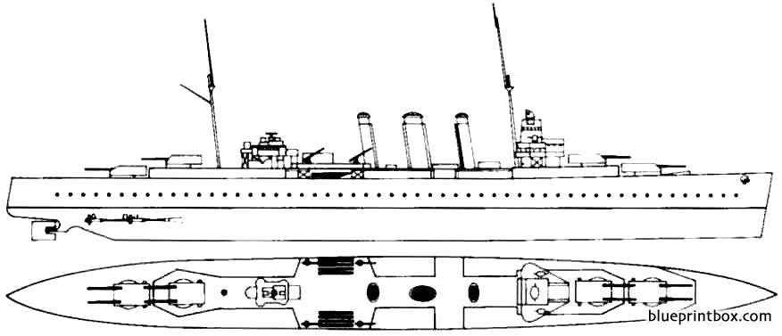 Hms Kent 1928 Cruiser - Blueprintbox Com