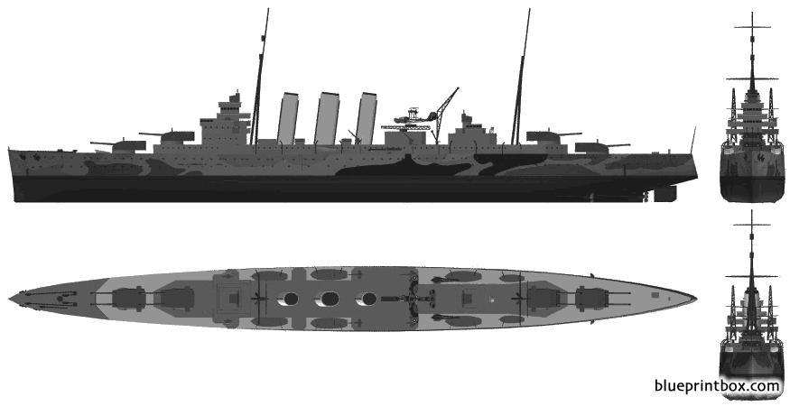 Hms Kent 1940 Heavy Cruiser - Blueprintbox Com