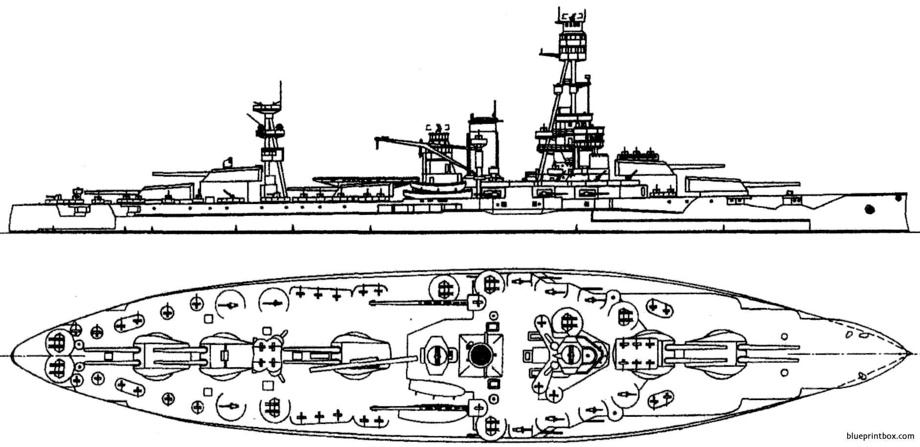 Bb 35 Uss Texas 1942 - Blueprintbox Com