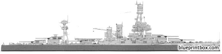 Uss Bb 35 Texas 1943 - Blueprintbox Com