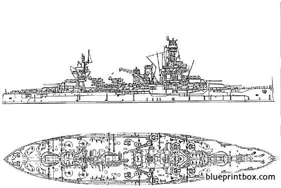 Uss Bb 35 Texas 1945 - Blueprintbox Com