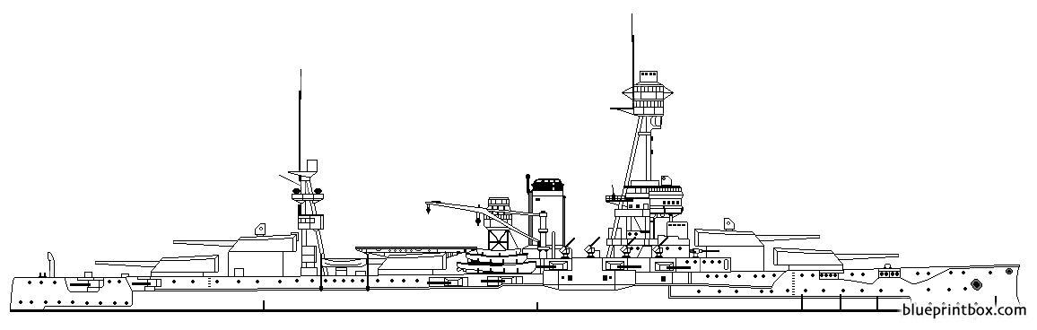 Uss Bb 35 Texas Battleship - Blueprintbox Com