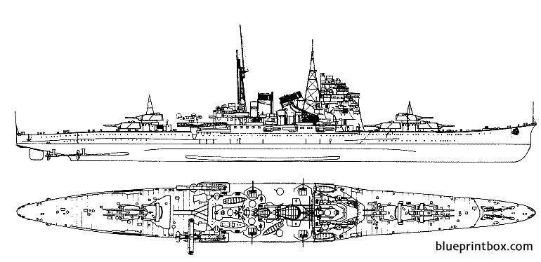 Ijn Takao 1943 Cruiser - Blueprintbox Com