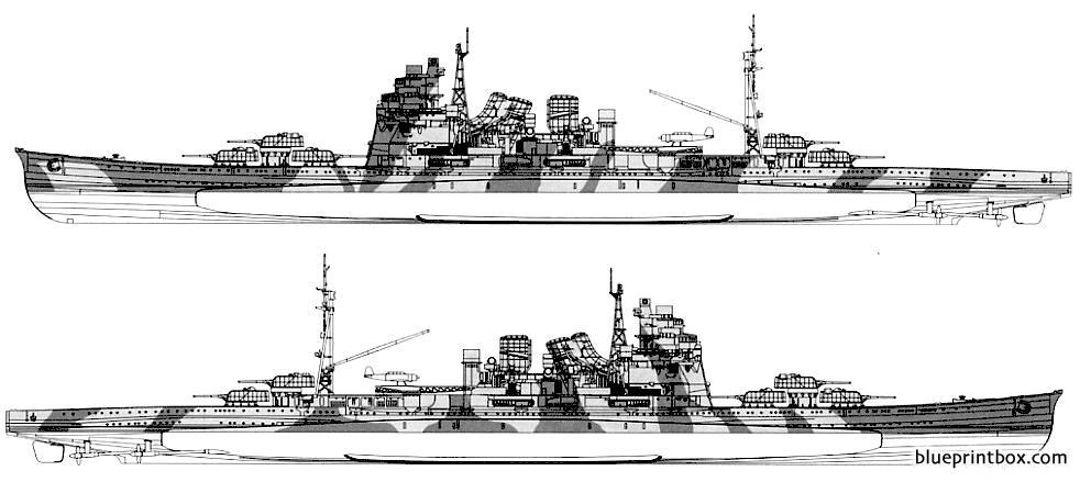 Ijn Takao 1945 Heavy Cruiser 2 - Blueprintbox Com