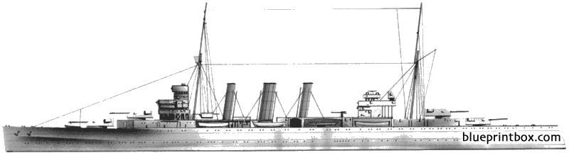 Hms Kent 1926 Heavy Cruiser - Blueprintbox Com
