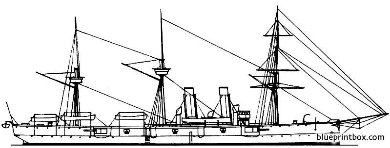 Hms Leander 1882 Cruiser - Blueprintbox Com