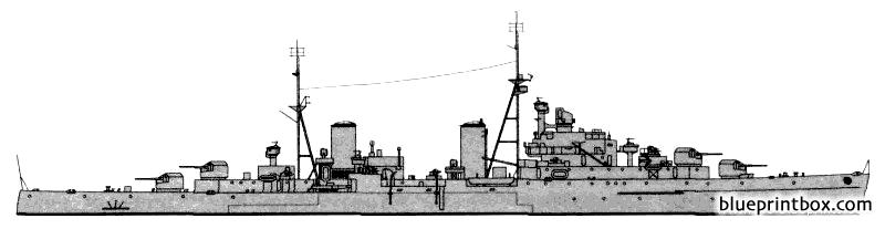 Hms Spartan 1943 Aa Cruiser - Blueprintbox Com