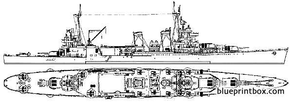 Uss Ca 36 Minneapolis 1943 - Blueprintbox Com