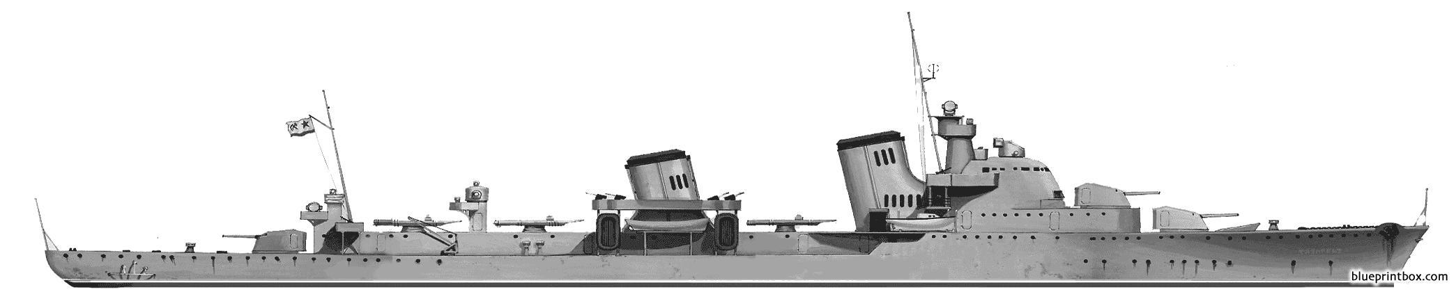 Ussr Tashkent 1939 Destroyer - Blueprintbox Com