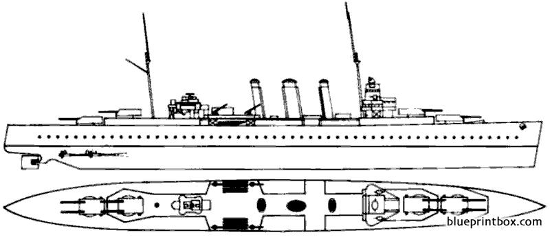 Hms Kent Heavy Cruiser - Blueprintbox Com