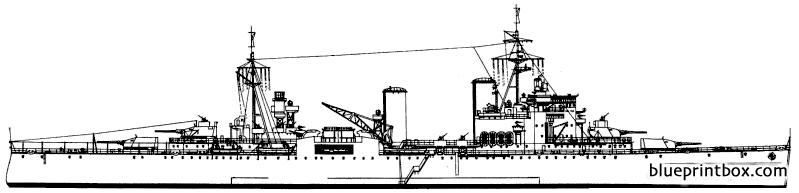 Hms London 1943 Heavy Cruiser - Blueprintbox Com