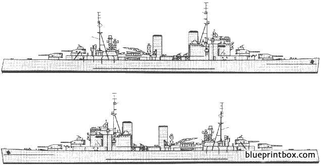 Hms London C69 Heavy Cruiser - Blueprintbox Com