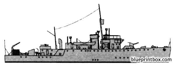 Hms Rhyl 1943 Escort Minesweeper - Blueprintbox Com