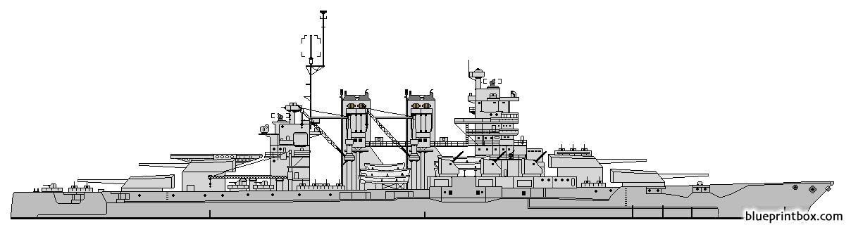 Us Bb 35 Texas Battlecruser Conversion 1944