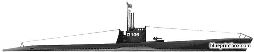 Ijn Ro 106 1943 Submarine - Blueprintbox Com