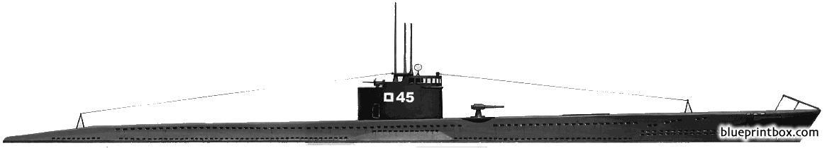 Ijn Ro 45 1944 Submarine - Blueprintbox Com