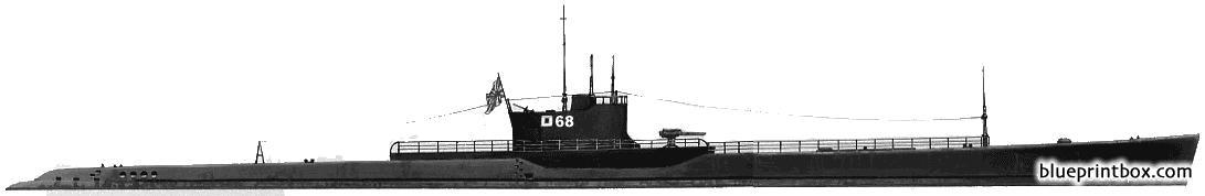 Ijn Ro 68 1941 Submarine - Blueprintbox Com