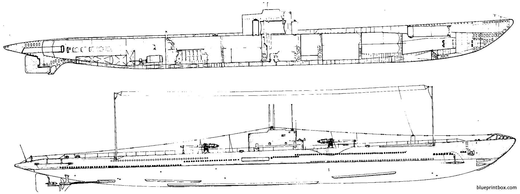 Uss Ss 166 Argonaut 1943 - Blueprintbox Com