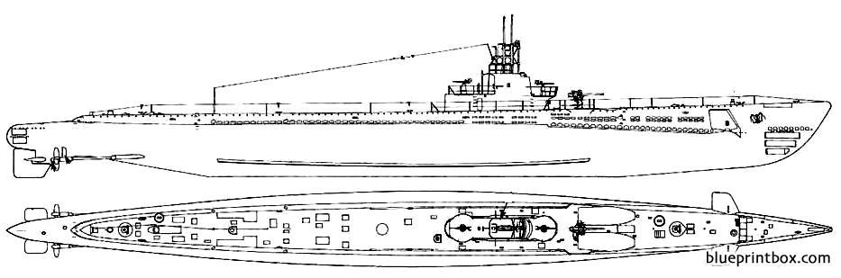 Uss Ss 212 Gato 1944 - Blueprintbox Com