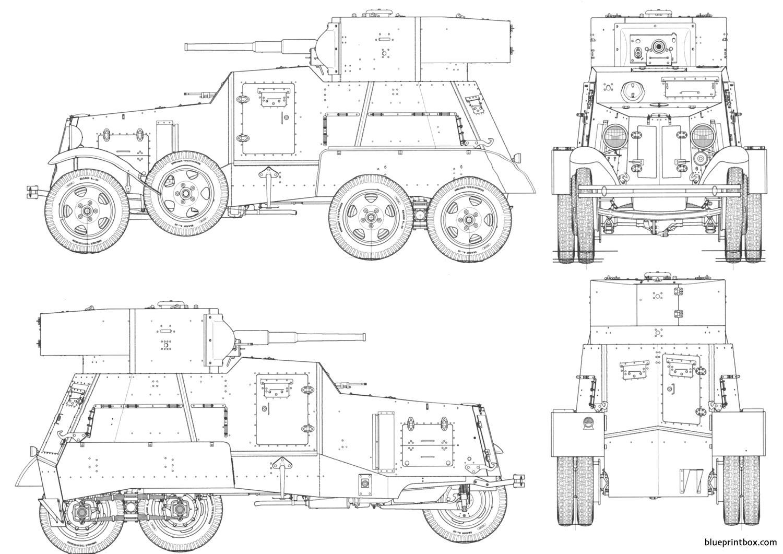 Ba 3 Armored Car - Blueprintbox Com