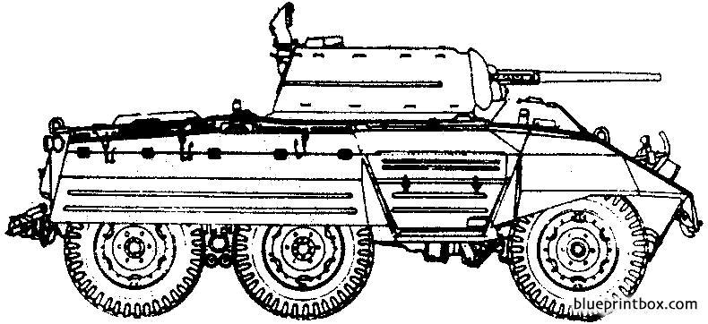 Ford M8 Armoured Car - Blueprintbox Com