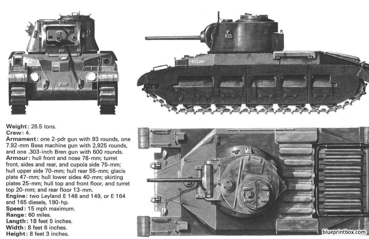 Infantry Tank Mark Ii Matilda - Blueprintbox Com