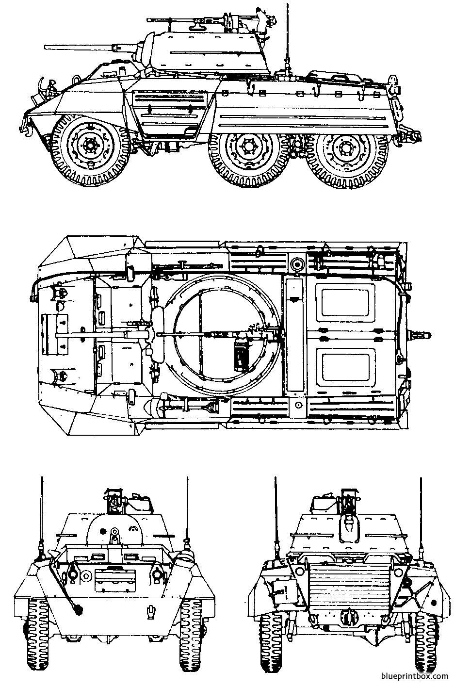 M8 Greyhound - Blueprintbox Com