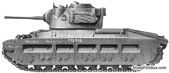 Matilda Iv Infantry Tank Mkii - Blueprintbox Com