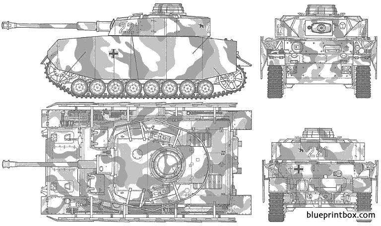 Pz Kpfw Iv Ausf H - Blueprintbox Com