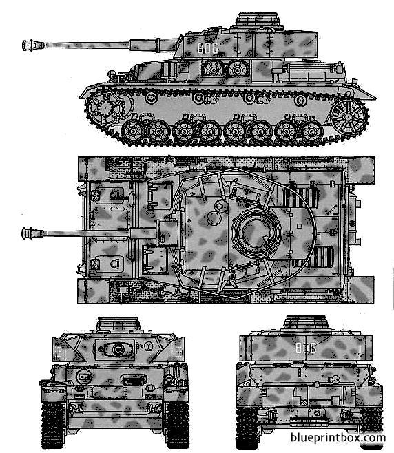 Pz Kpfw Iv Ausf J - Blueprintbox Com