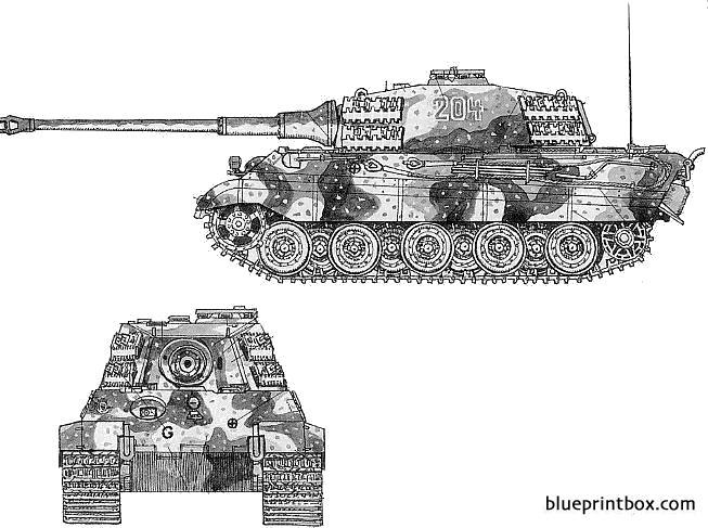 Pzkpfwvi King Tiger - Blueprintbox Com