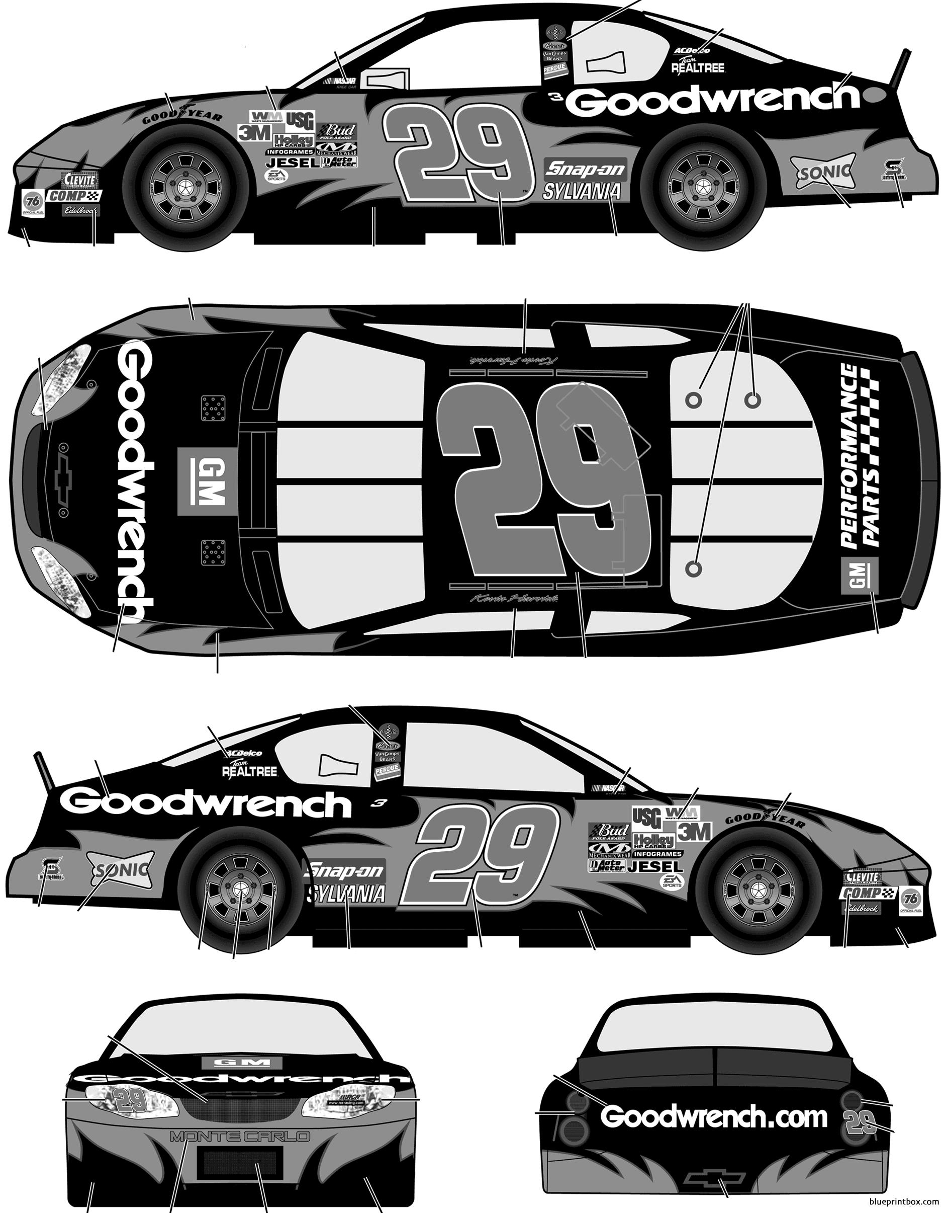 Chevrolet Monte Carlo 2003 No29 Kevin Harvick Gm