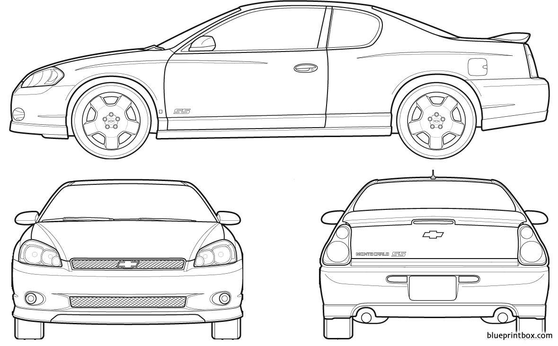 Chevrolet Monte Carlo 2007 - Blueprintbox Com