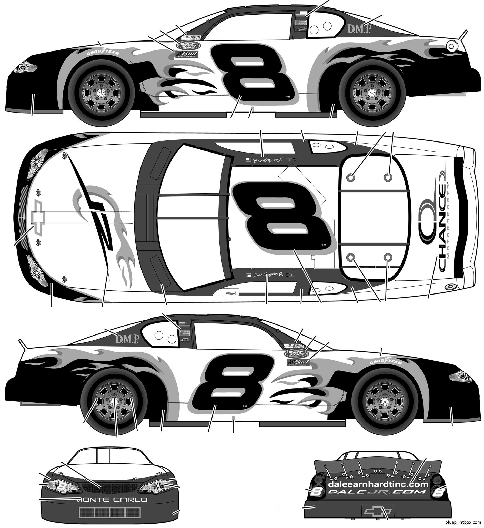 Chevrolet Monte Carlo No8 Dale Earnhardt Jr Chance 2