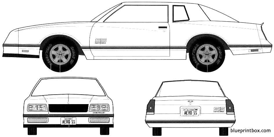 Chevrolet Monte Carlo Ss Aeroback 1987