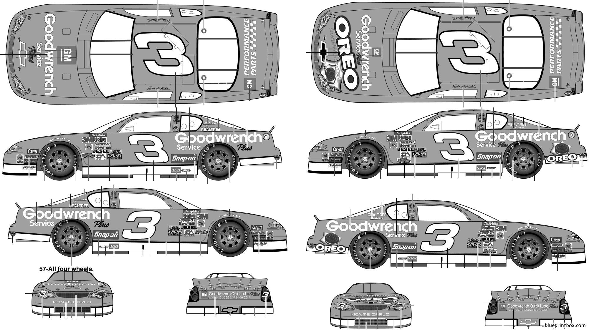 Chevrolet Monte Carlo Stock Car 2001 No3 Dale Earnhardt