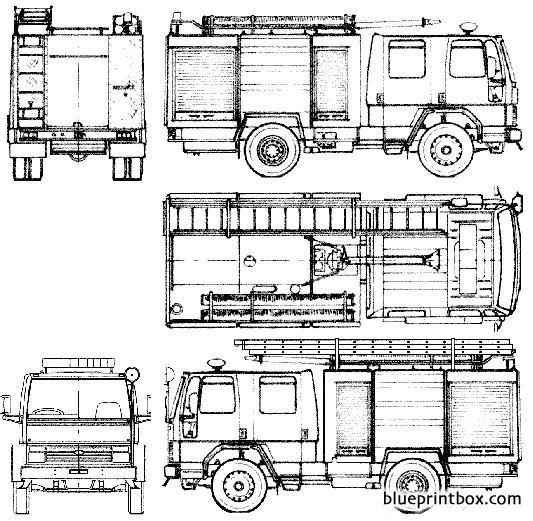 Ford E Cargo 1117 Fire Truck 1985