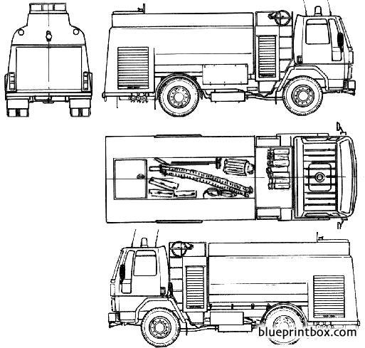 Ford E Cargo 1313 Fire Truck 1985