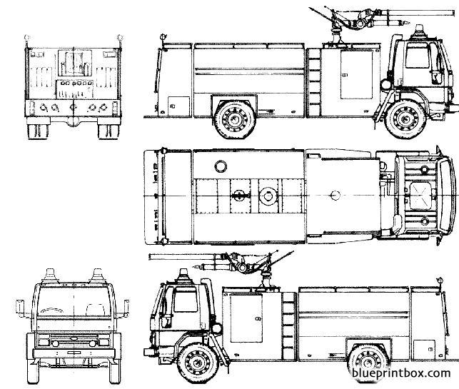 Ford E Cargo 1418 Fire Truck 1985
