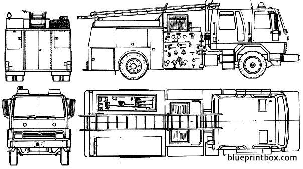 Ford E Cargo 1618 Fire Truck 1985