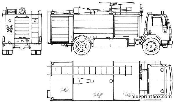 Ford E Cargo 1620 Fire Truck 1985