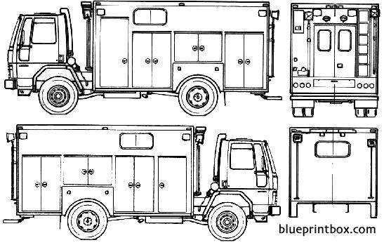 Ford E Cargo Cf6000 Fire Truck 1985