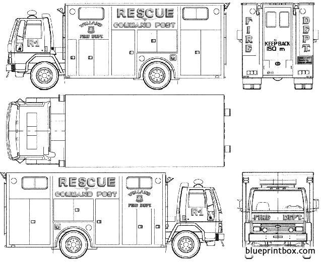Ford E Cargo Cf6000 Fire Truck 1987