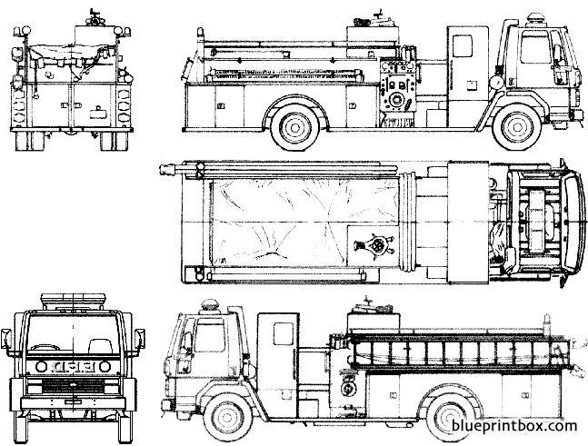 Ford E Cargo Cf8000 Fire Truck 1985