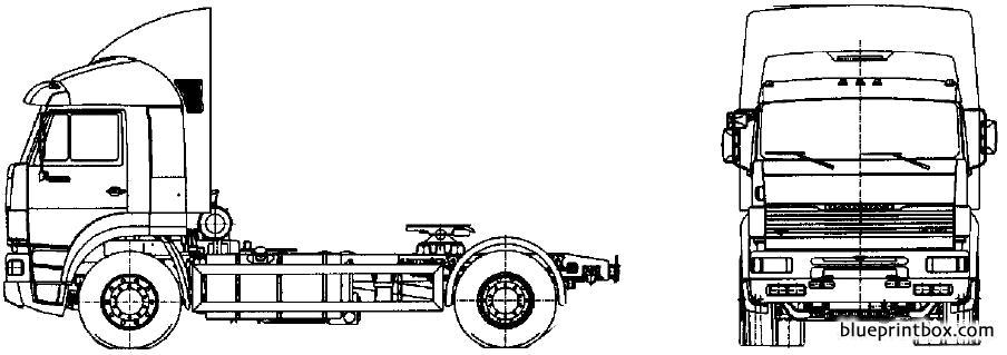 Kamaz 5460t - Blueprintbox Com