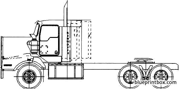kenworth t404st - blueprintbox com