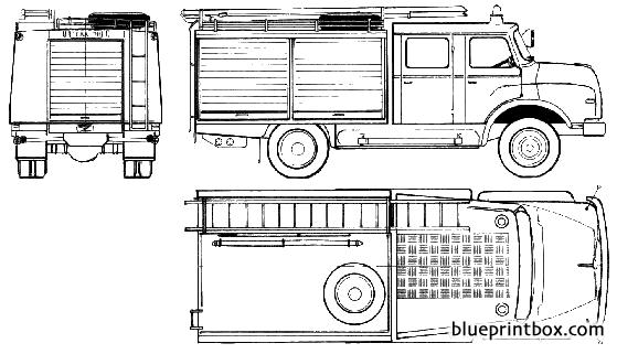 Man 11168 Tlf Fire Truck 1977 - Blueprintbox Com
